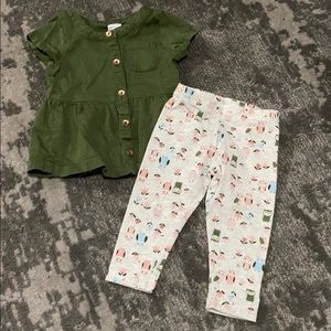 🌻3/20$ Carter's Baby Girl Outfit Size 9 Months